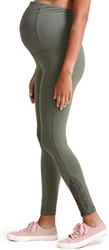 Ingrid Isabel Maternity Activewear Active Macrame Legging with Crossover Panel Olive product image