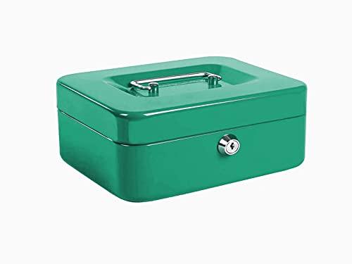 Kippen 10033v2 - Caja de caudales verde, medidas: 200 x 160 x 90 mm