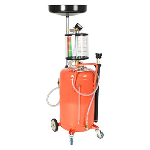 Festnight Altölauffanggerät 70 L | Ölablassbehälter | Ölauffangwagen | Ölablassgerät | Ölauffanggerät | mit Lenkrollen Höhenverstellbar für Motor- und Getriebeöl