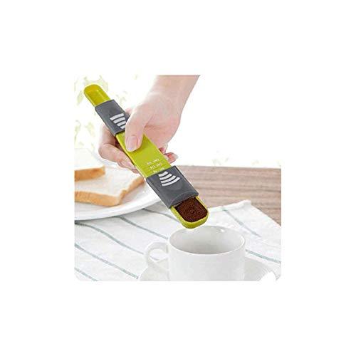 Cuchara medidora ajustable de doble parte superior con cuchara de medición de leche en polvo graduada cuchara de café en polvo cuchara de medición