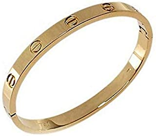 18 Gold Plated Stainless steel bracelet eternal love Bangle for women