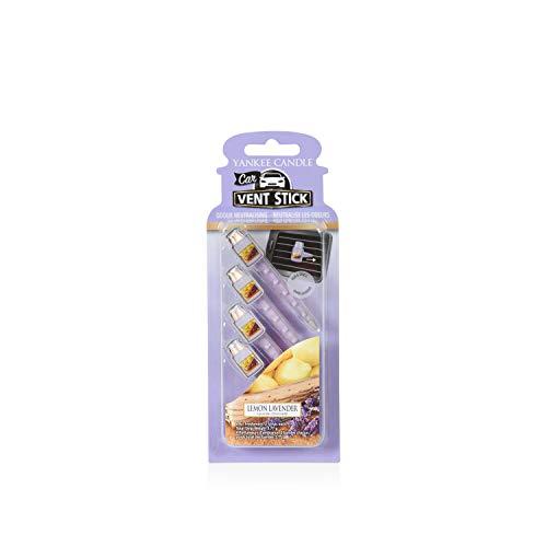 Yankee Candle bâtonnets pour aérateur de voiture « Lavande citronnelle », mauves, 0,1 x 6,6 x 18,2 cm