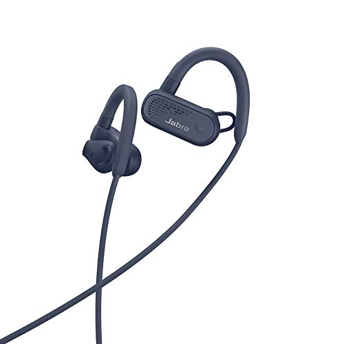 Jabra Elite Active 45e Wireless Sports Earbuds, Navy – Alexa Built-in Wireless Bluetooth Earbuds, Around-The-Neck Style with a Secure Fit and Superior Sound, Long Battery Life, Ideal for Running