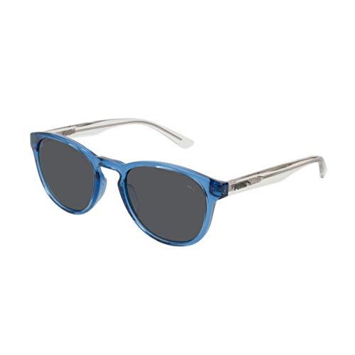 PUMA Jungen Junior Sonnenbrille, Crystal/Smoke/Blue, 48