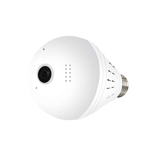 ZUHANGMENG Telecamera a lampadina, 960P Fisheye Lampadina per fotocamera con grandangolo a 360 °, Supporto per videocamera di sicurezza domestica Rilevazione di movimento IR per casa, ufficio