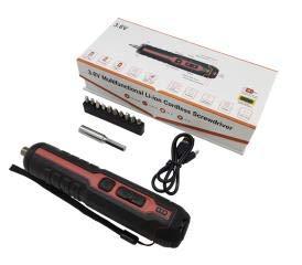 Atornillador inalámbrico, juego de atornillador inalámbrico, 3,6 V, con batería de litio de 2 Ah y luz LED, 11 accesorios