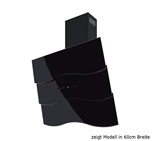 Dunstabzugshaube Wandhaube F.BAYER WAVE 90S 90cm Schwarz Dunstabzug 850m³/h EEK A LED