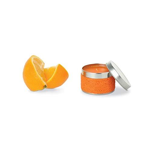 Lote de 20 Velas Fragancia Naranja - Detalles Originales Invitados de Bodas, Regalos Comuniones y Recuerdos para Cumpleaños Infantiles