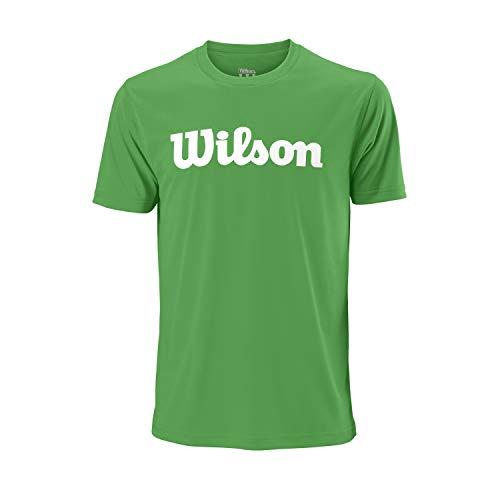 Wilson Uwii Script Tech Camiseta, Multicolor (Andean Toucan/White), XL Hombres