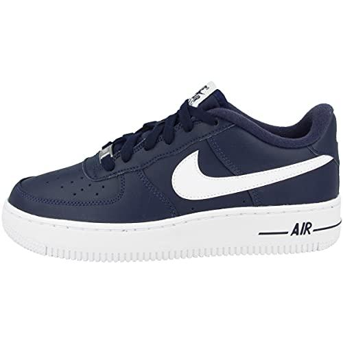 Nike Air Force 1 AN20 (GS), Scarpe da Basket, Midnight Navy/White, 37.5 EU