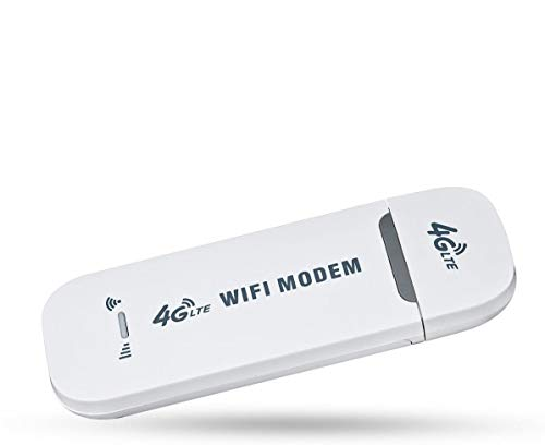 XTRONS 4G LTE WiFiルーター USBドングル SIMフリー USB型 モバイル ルーター ワイヤレス 8台同時接続可能 省電力 軽量 mobile wifi (4GDONG001Y)