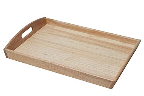 パール金属 木製 トレー 大 角型 お盆 フレア H-3045