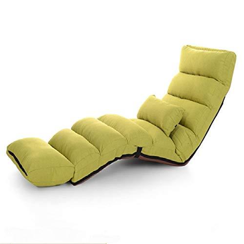 Yanmeng Divano Pigro Regolabile Divano Moderno Divano Letto Salotto Soggiorno Sedia reclinabile Sedia Pieghevole .Yanmeng. (Color : Green)