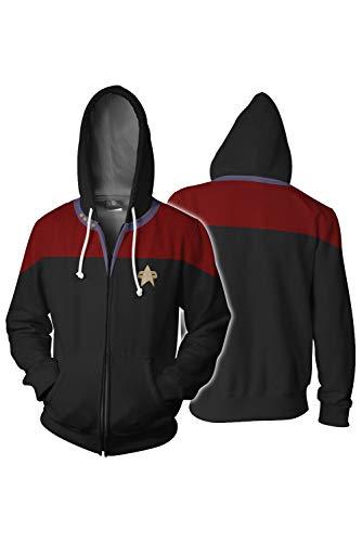 Tollstore Star Trek Kapuzenjacke Hoodie Pullover Sweatjacke Kapuzenpulli Jacke Pullovershirt Reißverschluss XL