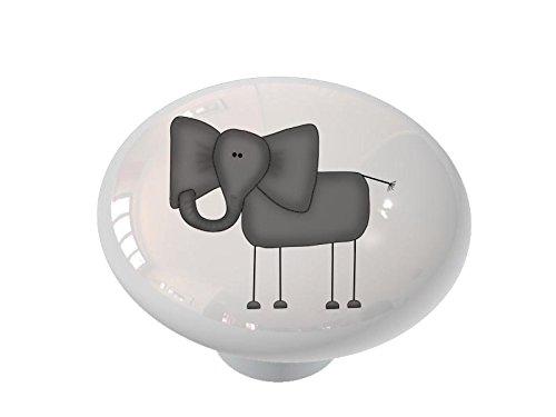 Funny Elephant Ceramic Drawer Knob