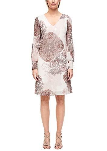 s.Oliver BLACK LABEL Damen 155.10.006.20.200.2040137 Kleid, Cream Ornamental Print, 42