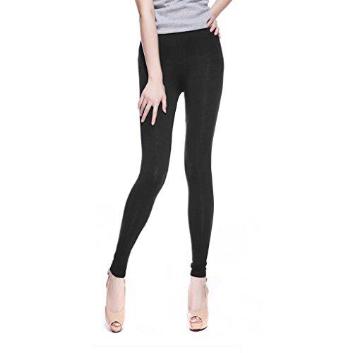 Leggings Grande Taille femme Pantalon Jegging coloré Elastique Extensible Fashion - noir XXXXXL 5XL