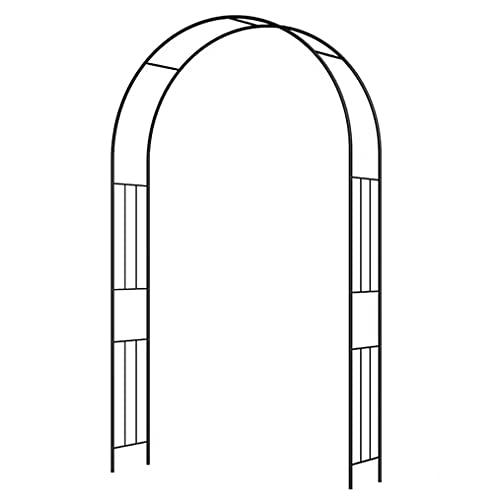 Arco decorativo de metal, cenador de acero para exteriores, arco ligero y fácil de instalar para varias plantas trepadoras, arco para jardín, césped, fiesta, decoración de bodas (varios tamaños)