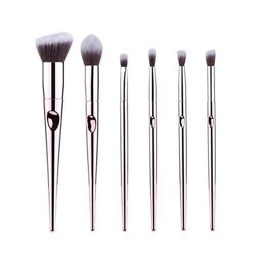 Conjunto de pincéis de maquiagem Pó Base Blush Sombra Corretivo Labial Olho Cosméticos Pincel para Presente Feminino de Beleza (Tamanho : 6 peças)