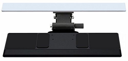 Humanscale 5G 500 27' Big Platform Keyboard Tray, with 22' Track and Gel Palm Support with Synthetic Leather Cover