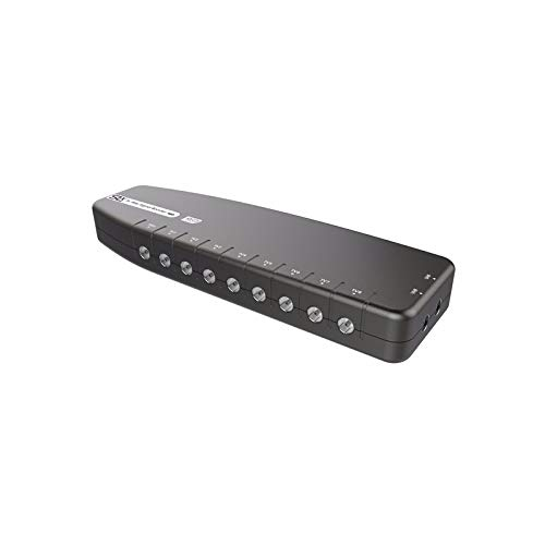 Signalverstärker SLx TV-Einzelausgang, verbessert Bildqualität und Kanalempfang, grau, 1