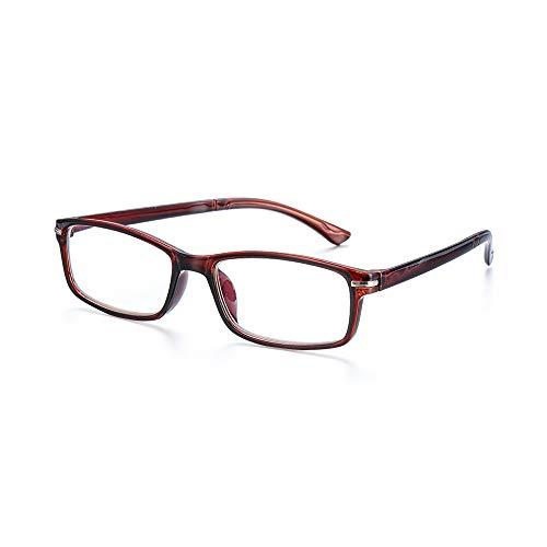 hzyy Vision Care TR90 Lesebrille, leicht, Strahlenschutz, blaues Licht, blockiert Presbyopic, braun, Strength 3.00