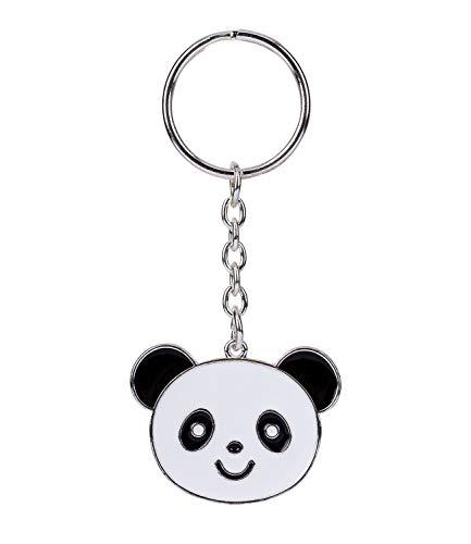 SIX Panda Keychain: Kinder Schlüsselanhänger mit lustigem Panda-Motiv in Emaille, Glücksbringer aus robustem Zink, Anhänger für den ersten S (372-023)