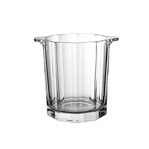 Portaghiaccio Benna di ghiaccio di vetro di cristallo con clip portatile secchio di ghiaccio bucket bucket champagne secchio bevande bevande secchio partito attività e stoviglie da campeggio Secchio p