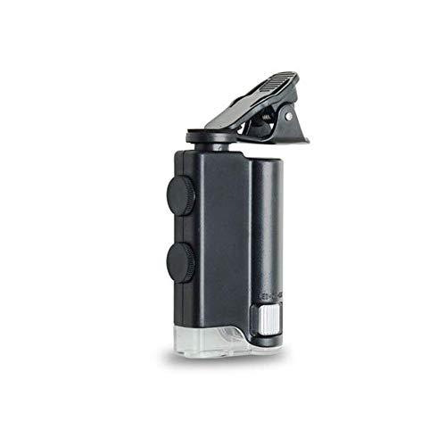 Vergrootglas Magnifier Glass Microscoop Pocket Phone Mini Draagbare Handheld LED En UV-Licht Lens Senioren Lezen Van Boeken, Het Opsporen Van Valuta