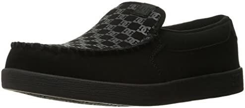 DC Men's Villain TX Slip-on Skate Shoes Skateboarding, Black Print, 9 D D US