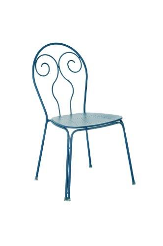 Emu Caprera 930 309306100 Chair Powder-Coated Steel Set of 4 Petrol Blue
