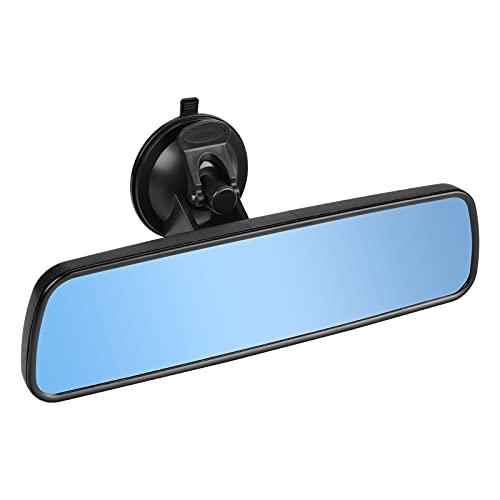 SLIIMU Auto Rückspiegel mit Saugnapf, 240mm Blendschutz Universal Innenspiegel, Blau Glas Large Vision Weitwinkel Flacher Spiegel Montiert auf Windschutzscheibe für Car Auto SUV Van