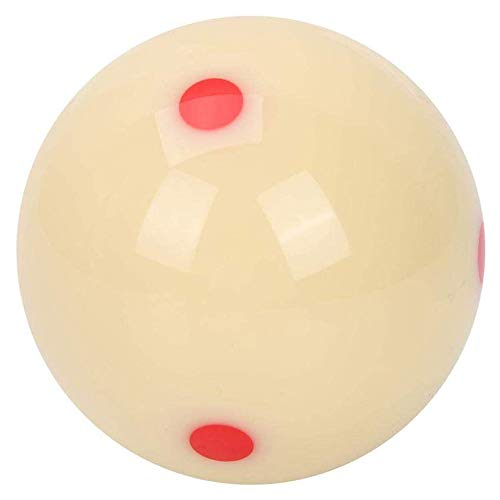 POFET Bola de billar de 57 mm para niños y adultos, color blanco