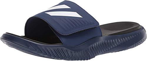 adidas Men's Alphabounce Slide Shoes, Dark Blue/White/Black, 13 M US