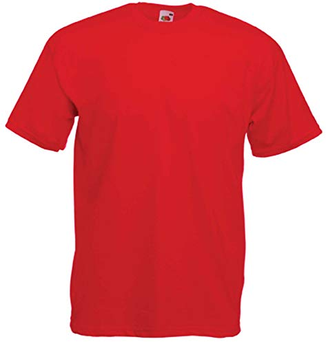 Fruit of the Loom T-Shirt S-XXXL in verschiedenen Farben M,Rot