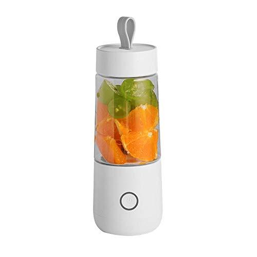 FPXNBONE Verdura Batido Blender,Licuadora pequeña portátil, exprimidor USB multifunción-Blanco,Fruta, Verdura, Smoothies, Extractor