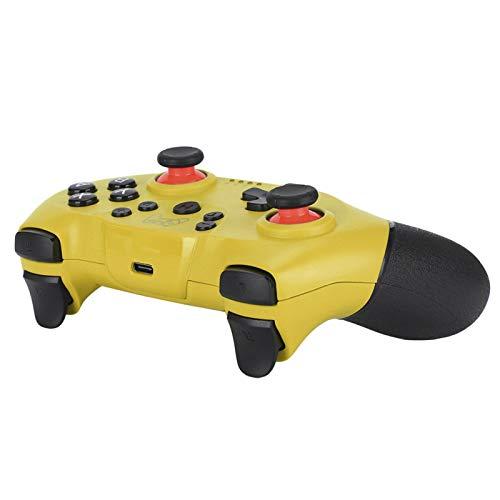 DAUERHAFT Gamepad inalámbrico de Bluetooth de la manipulación fácil de la manija del Juego, para el anfitrión del Interruptor(Yellow)