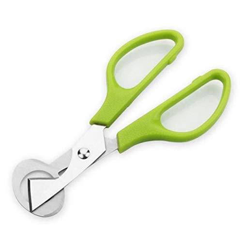 BIYI Diseño práctico Cocina doméstica Acero Inoxidable Codorniz Cáscaras de Huevo Tijeras Cortadoras de Huevo Abrelatas de Cortador Herramientas de Cocina (Verde)