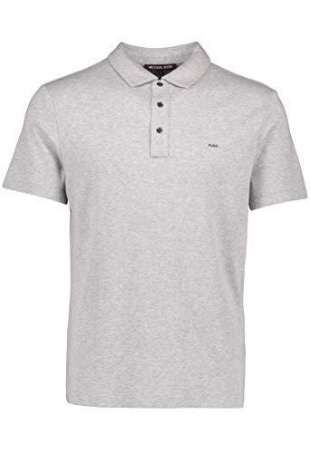 Michael Kors Polo de la marca Sleek Logo en gris jaspeado