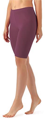 Merry Style Damen Kurze Leggings aus Viskose MS10-145 (Weinrot, L)