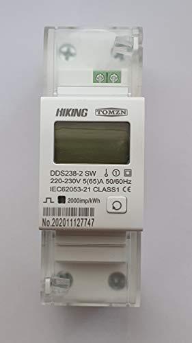 Contador eléctrico (Kwh positivos, negativos y totales consumidos, activa W, reactiva Var , factor Cos, tensión V, amperaje A, frecuencia Hz y Energía restante Kwh hasta 0)