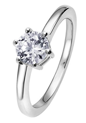 Viventy Damen Verlobungsring 925 Sterlingsilber Antragsring Zirkonia 781911 Ringgröße 56/17,8