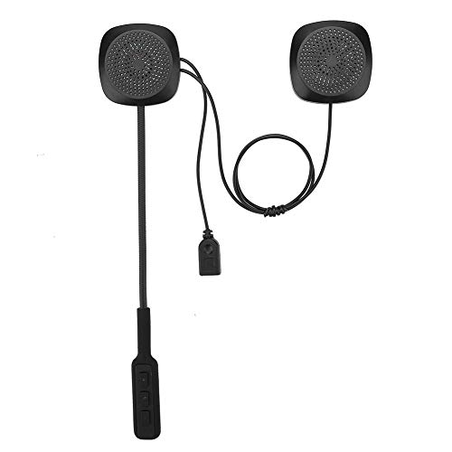 01 Intercomunicador Bluetooth para Casco, Control de Voz Automático/Contestador Manual Auriculares para Casco Bluetooth con Cable de Datos para Moto