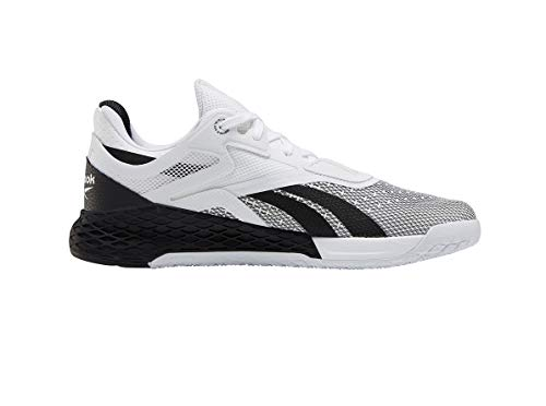 Reebok Mens Nano X Cross Trainer Running Shoes, White/Black, 9