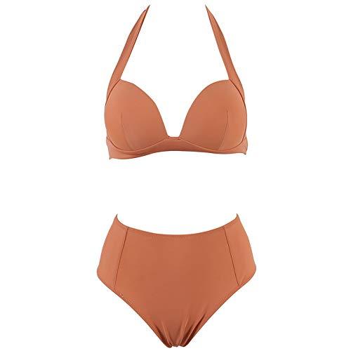 WHCREAT Push Up Bikini Set Neckholder Hoge taille Badmode Badkleding Badpak