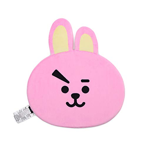 BT21 Official Merchandise by Line Friends - Cooky Character Face Sitting Cushion Seat Floor Couch Pillow, Pink