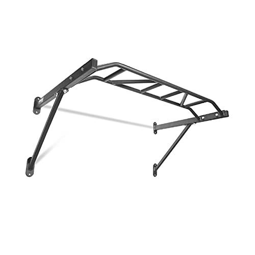 Titan Fitness HD Multi Grip Wall Mounted Pull Up Bar Chin Up Steel 48' Wide Grip