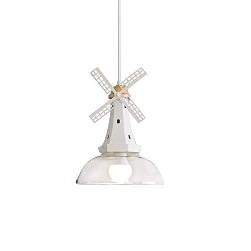 Deens windmolen modelleer plafond hanglamp modern creatief rond design hanglamp hout ijzer glas lampenkap kroonluchter E27 lamp voor slaapkamer eettafel keuken eiland bar