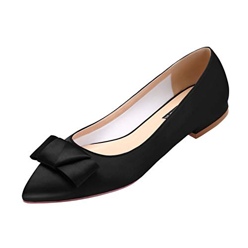 Top 10 best selling list for black satin flat shoes