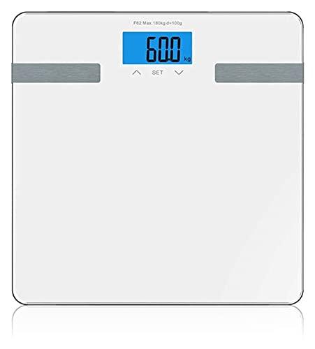 M3 Decorium Escala de Grasa Corporal de precisión Bluetooth: analizador de composición Corporal de Peso Digital Inteligente con aplicación multifunción de Aplicaciones (Color : White)